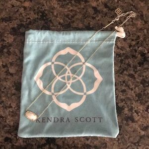 Kendra Scott Elisa White iridescent necklace